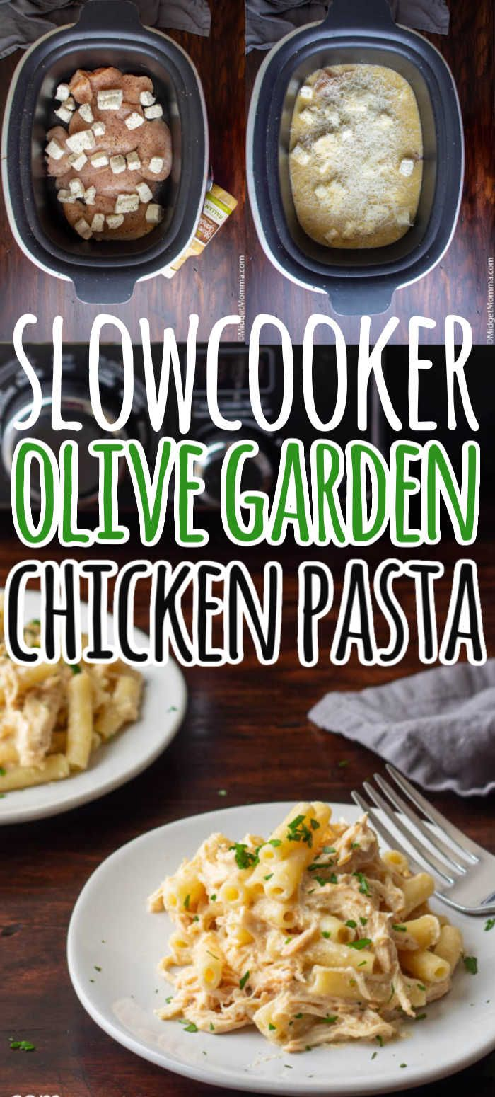 Olive Garden Chicken Pasta In 2020 Italian Crockpot Recipes Chicken Crockpot Recipes Chicken Pasta Crockpot