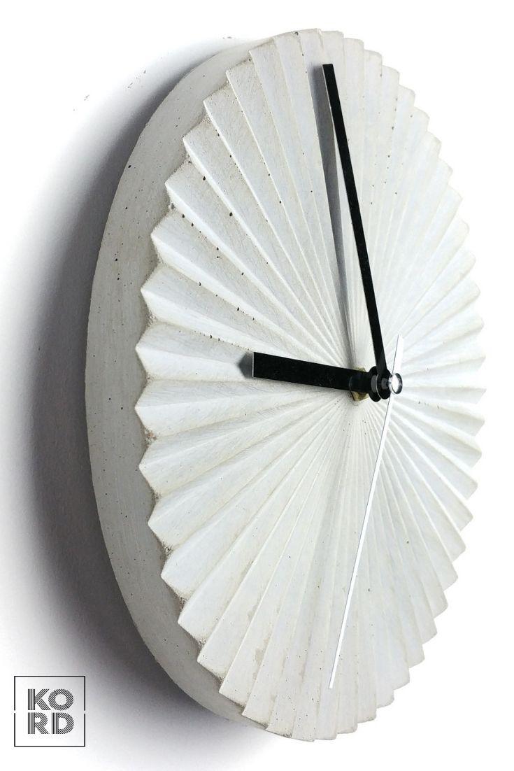 Concrete Wall Clock Scandi Clock Minimal Clock Wall Clock Etsy Wall Clock Clock Modern Clock