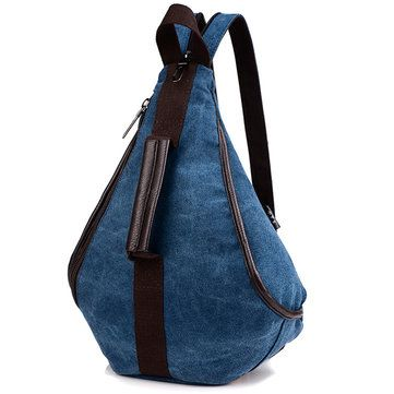 Women Canvas Multifunction Chest Bags Casual Shoulder Bags Backpack Rucksack - US$23.99