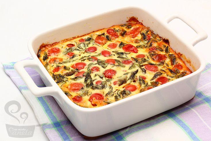 receita levíssima de torta de tomate com manjericão