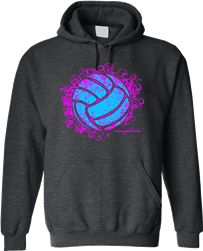 Stay Warm In This Charcoal Grey Volleyball Hoodie One Of