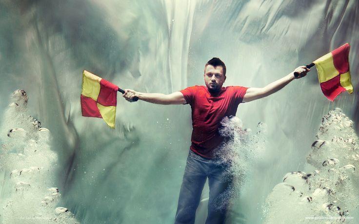 underwater, communication, flags, signals