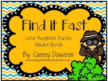 Help your little ones practice letter identification with this addicting game of Find it Fast!