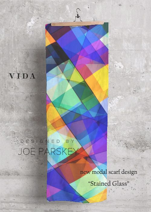 Cashmere Silk Scarf - dolls stained glass by VIDA VIDA
