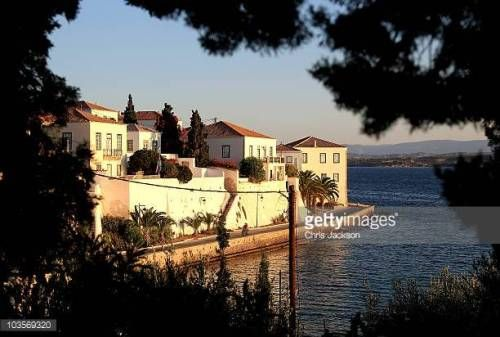 06-29 SPETSES, GREECE - AUGUST 24: Houses stand in the morning... #spetses: 06-29 SPETSES, GREECE - AUGUST 24: Houses stand in… #spetses