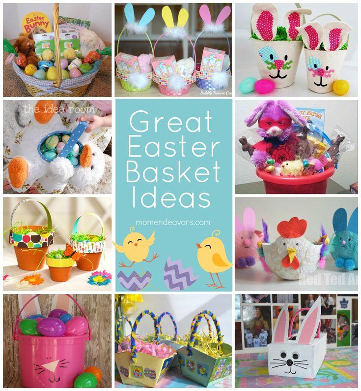 Lots of great creative Easter basket ideas - DIY baskets & basket filler idea links included. #Easter