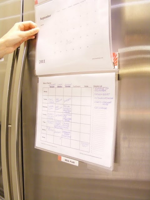Diy Refrigerator Calendar : Diy easy meal planner use a magnetic mead flip folder