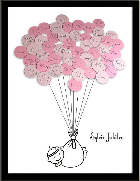 Baby Shower Guest Book Print - Girl