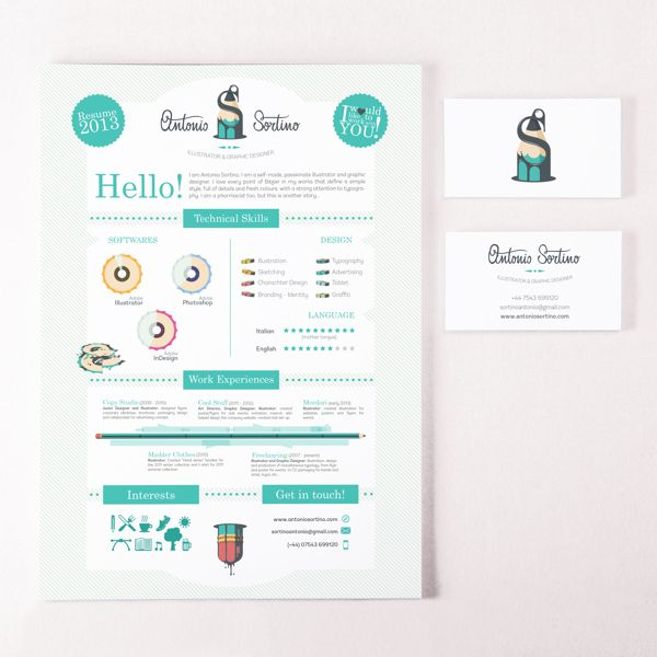 156 best Creative Resumes images on Pinterest Architecture - resume business cards