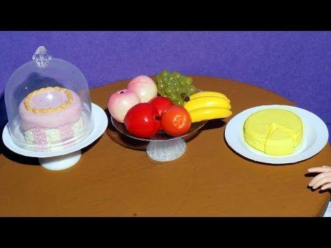 Como fazer queijo, fruteira e boleira para bonecas Barbie e outras - miniatura - YouTube