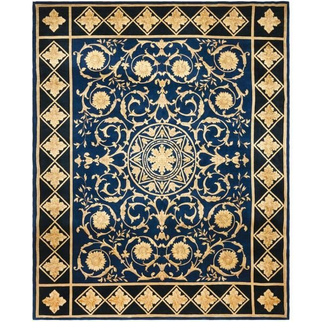 Safavieh Asian Hand-knotted Majesty Royal Blue Wool Rug (6' x 9'), Size 6' x 9' (Natural Fiber, Oriental)