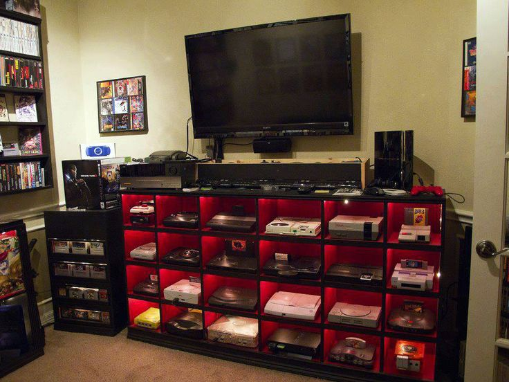 This is a great idea to organize and easily play all the game consoles we've been collecting since video games were invented.