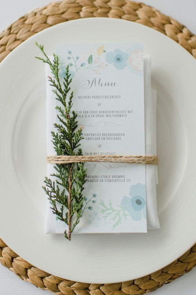 #menukaart bruiloft #trouwen #trouwdag #huwelijk #inspiratie #idee #real #wedding #menu #inspiration Trouwen in het WestCord hotel Delft   Photography: Alexandra Vonk   ThePerfectWedding.nl