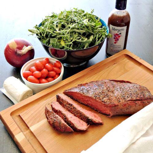 Grilled Steak Salad with Balsamic Cabernet DressingReally nice  Mein Blog: Alles rund um die Themen Genuss & Geschmack  Kochen Backen Braten Vorspeisen Hauptgerichte und Desserts