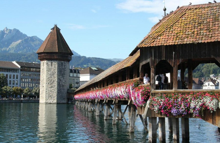17 best images about lucerna suiza on pinterest lakes - Puentes de madera ...