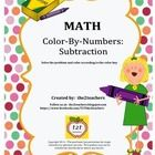 In Color-By-Numbers Subtraction by the2teachers you will receive 18 pages of practice in solving subtraction computation. Students color the pictur...