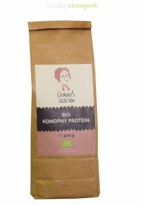 Bio konopný proteín obsahuje 50 % čistého proteínu ktorý je maximálne dôležitý pre aktívnych ľudí či vegetariánov. Konopný proteínový prášok obsahuje aj rozpustnú vlákninu a väčšinu kľúčových aminokyselín.  Odporúčané použitie: Konopný proteínový prášok je najlepší do miešaných nápojov. Je možné ho pridávať do iných druhov múky na výrobu konopného pečiva.