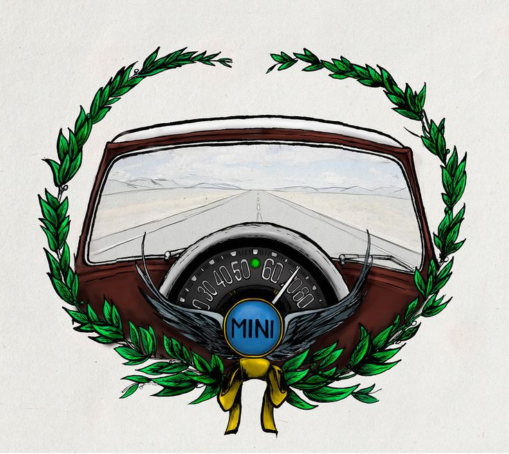 Echa un vistazo a mi proyecto @Behance: \u201cIlustración Mini Cooper\u201d https://www.behance.net/gallery/50074333/Ilustracion-Mini-Cooper