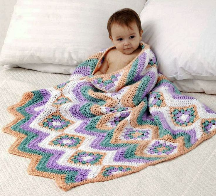 38 best images about Crochet Baby Granny Ripple Blankets ...