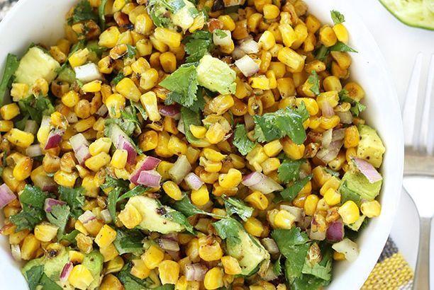 Warm Corn and Avocado Salad