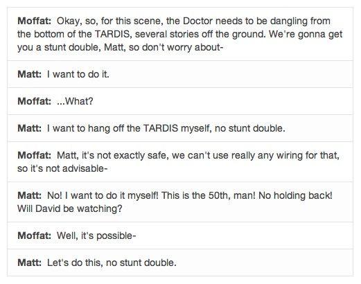 """""""Will David be watching?"""" XD, Oh, Matt Smith..."""