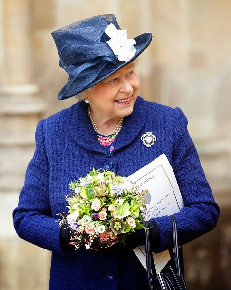 May 10, 2015 - Queen Elizabeth attends a Service of Thanksgiving to mark the 70th Anniversary of VE Day at Westminster Abbey