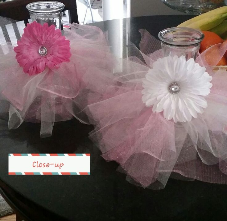 25 best images about tutu decorations on pinterest tulle for Baby shower tulle decoration ideas