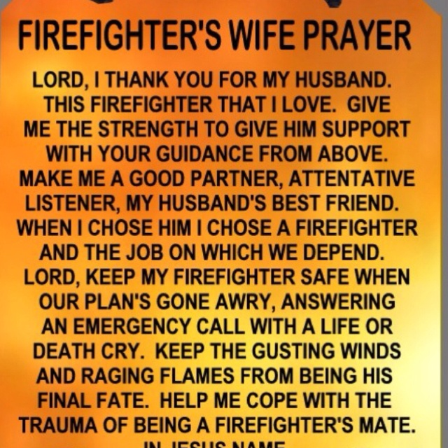 i love this even though im not a firefighters wife lol