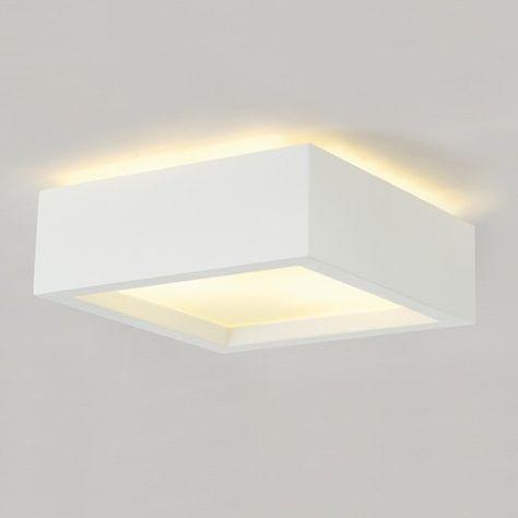 Gips-Deckenleuchte GL 104 E27 weiß EEK: A - A+: Amazon.de: Beleuchtung