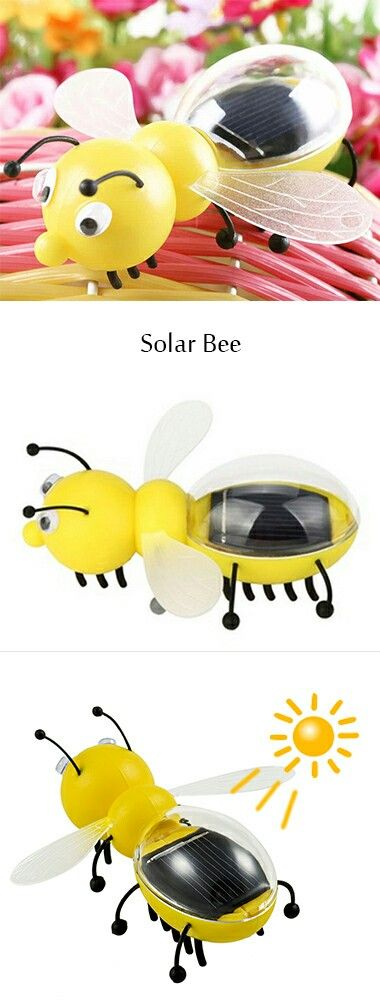 The Solar Bee is a little bug toy that utilized the solar energy to make it vibrating and move.