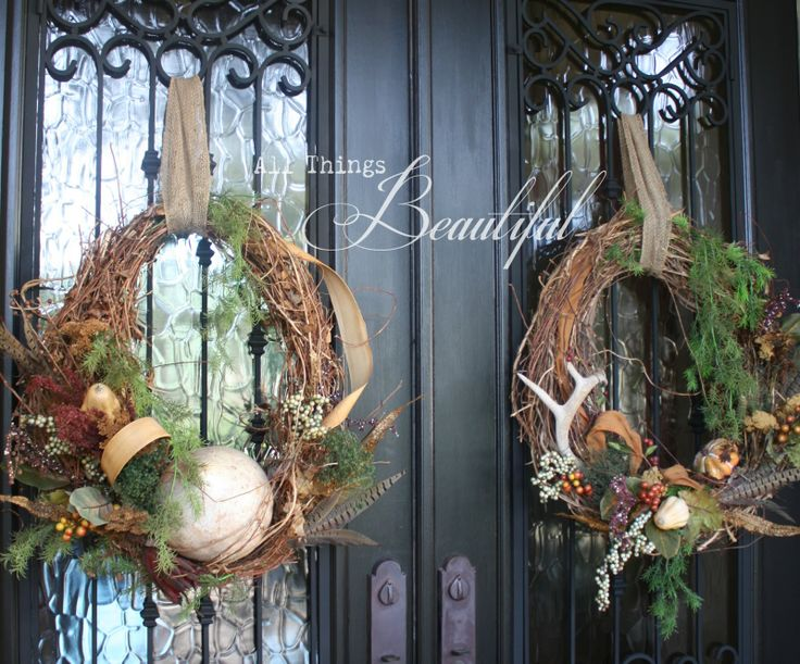 wool coats for women All Things Beautiful Fall Wreath Porch Decor  Holiday Ideas