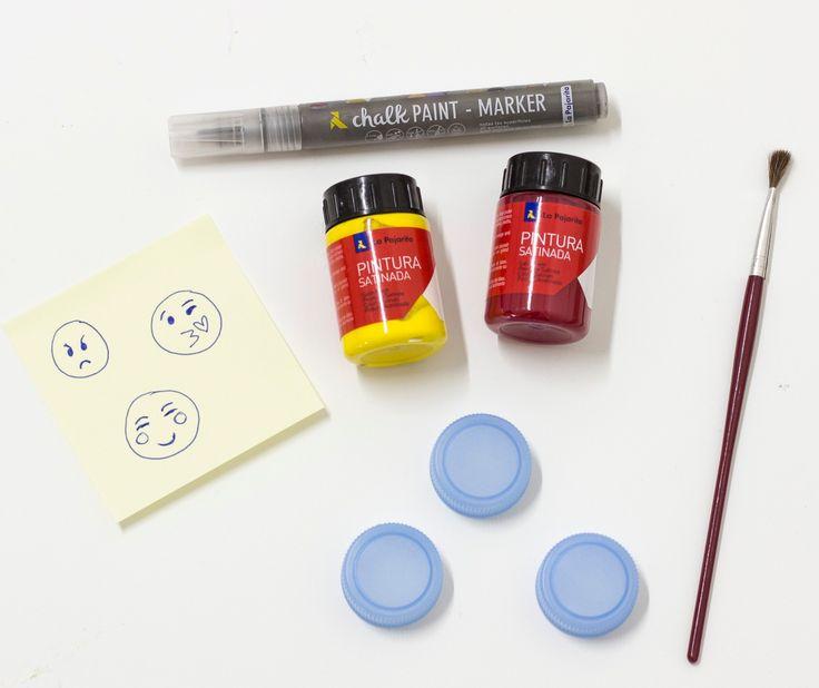 Recicla y convierte los tapones de botella en todo lo que te puedas imaginar con Pintura Satinada Multiuso. ¡Los DIY más divertidos para hacer con los más peques de la casa! Experimenta y crea en familia con Pinturas La Pajarita :) :)