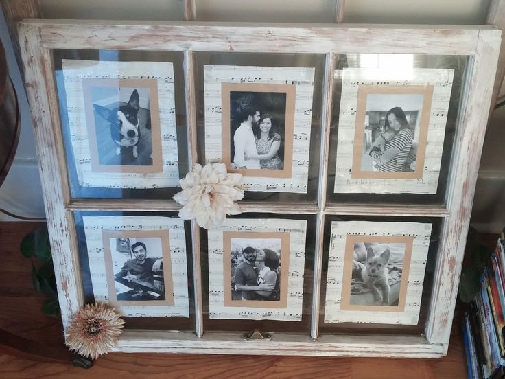 Window pane art for my wedding