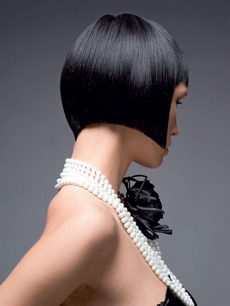Изящная геометрия. Окрашивание и стрижка. Боб для волос средней длины.