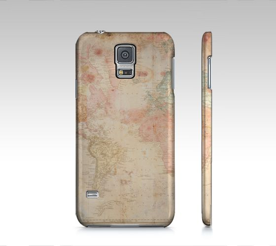 "#ArtOfWhere Samsung+Galaxy+S5+""Another+vintage+world+map""+by+Marosée+Créations"