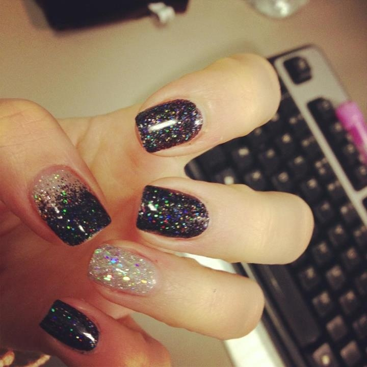 71 best nails images on pinterest nail art enamels and ideas black glitter nails prinsesfo Images