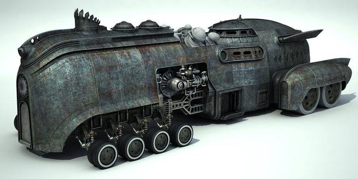 It's like a Steam Bat Mobile // I want one! (via aci-roy.deviantar...)