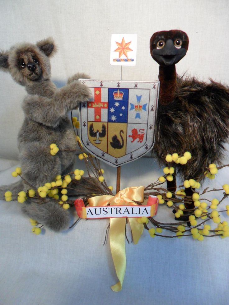 This is my interpretation of the Australian Coat of Arms