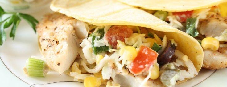 Tacos de Peixe Picante com Salada de Repolho - DiabeTV