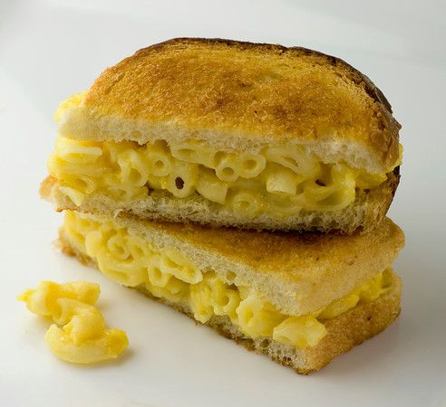 Grilled Macaroni and Cheese Sandwiches...I could see this with tomato ...