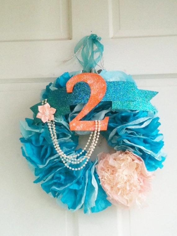 Little Mermaid Party Wreath