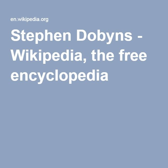 Stephen Dobyns - Wikipedia, the free encyclopedia
