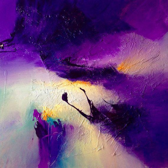 Vivant peinture abstraite par Dan Bunea 70x70x4cm ou par danbunea