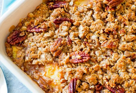 Peach Pecan Crisp - The perfect way to use sweet, late-summer peaches!