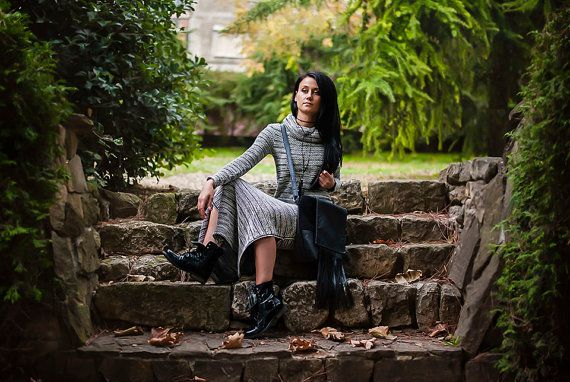 Long Women's Dresses / Maxi Dress / Winter Dress / Knitted