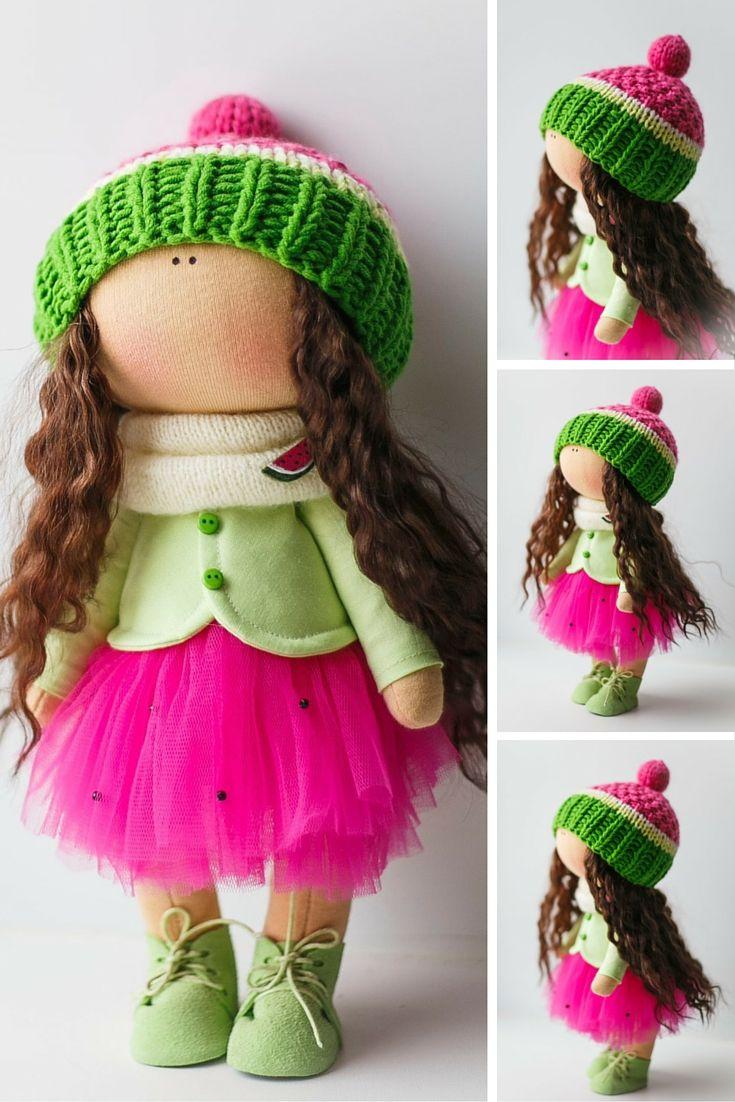 Textile doll, Interior doll, Cloth doll, Art doll, Baby doll, Rag doll