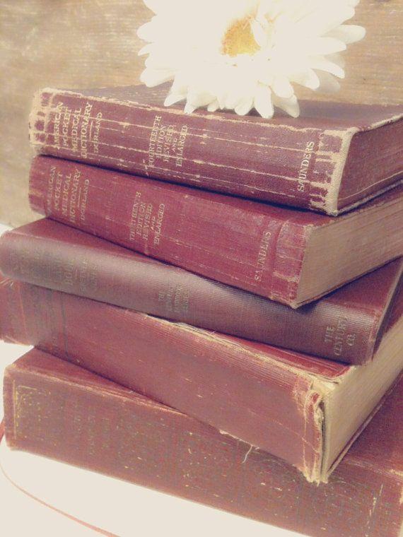 Antique Books for Wedding Decor