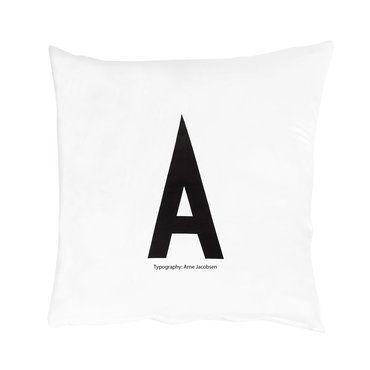 """Kissenbezug Vintage ABC Arne Jacobsen Buchstaben-Kissenbezug """"A"""", 80x80"""