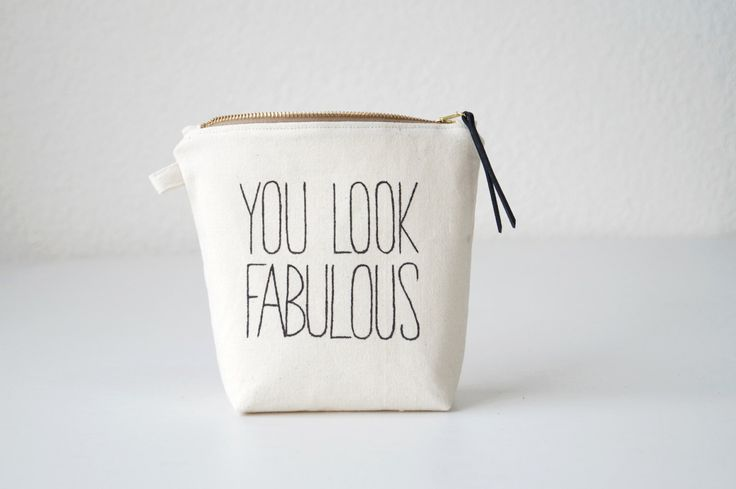 Personalized makeup bag FABULOUS. Makeup organizer. Brush case. Lined zipper pouch. Cosmetic bag for her. Wedding favor. Bridesmaids gift by DesignByRube on Etsy https://www.etsy.com/listing/247780919/personalized-makeup-bag-fabulous-makeup