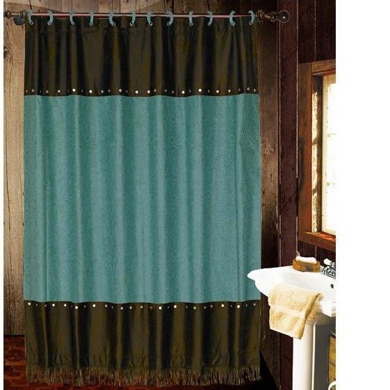 Cheyenne Turquoise Shower Curtain   JHE s Log Furniture Place will go great  with the turquoise star soap toothbrush bathroom setBest 25  Turquoise shower curtains ideas on Pinterest   Turquoise  . Brown And Turquoise Shower Curtain. Home Design Ideas